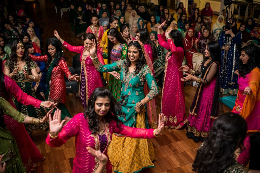 Traditional dancing at Mehndi