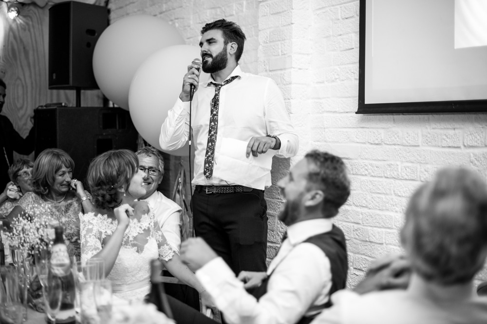 bestmans speech at London Fields Brewery wedding