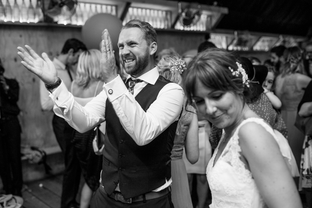party at London Fields Brewery wedding