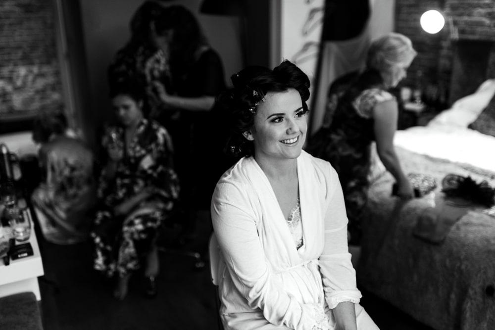 Bridal preparations at Malmaison London