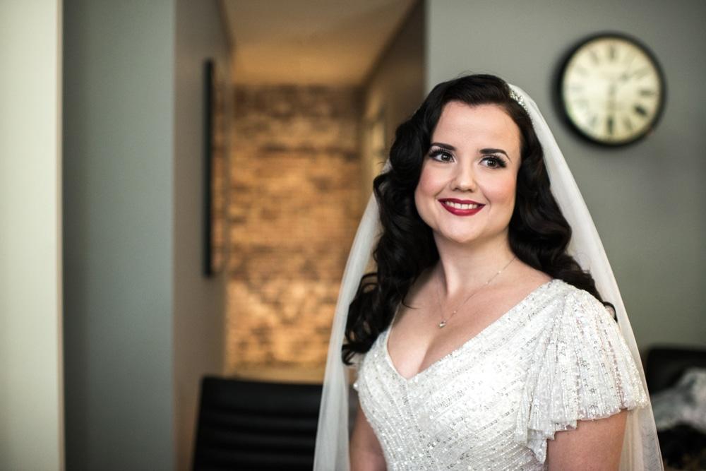 Bride portrait at Malmaison London