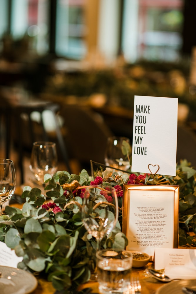 table decorations at The Happenstance London