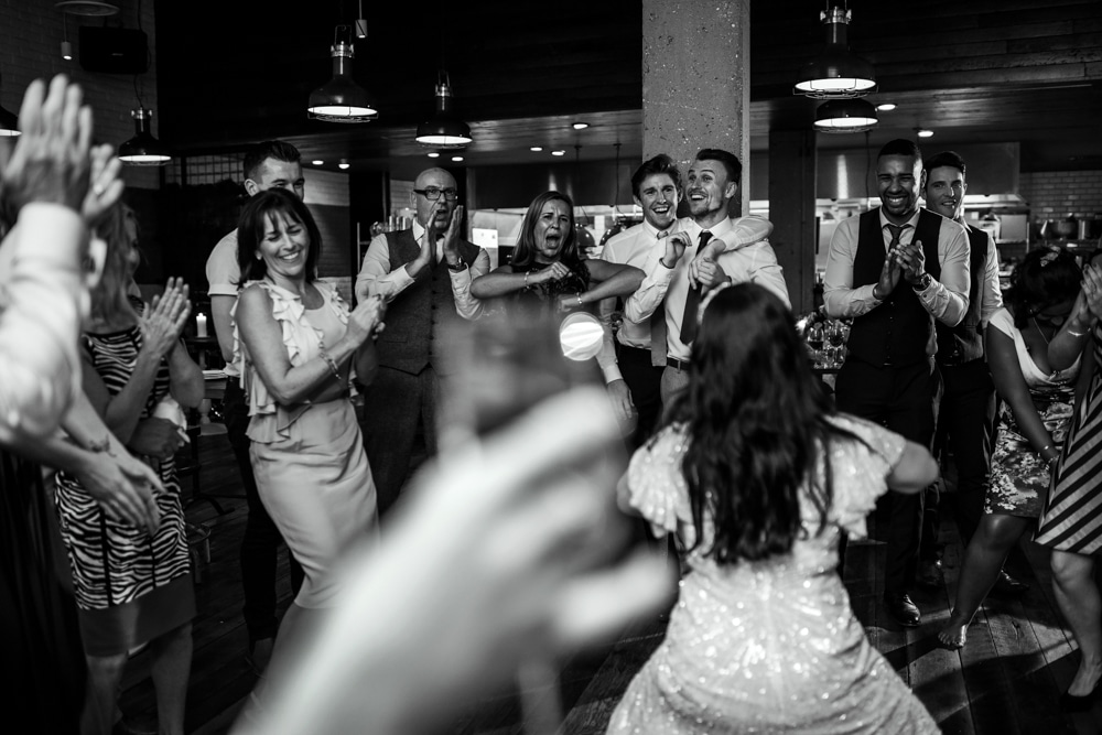 Bride dancing at The Happenstance London