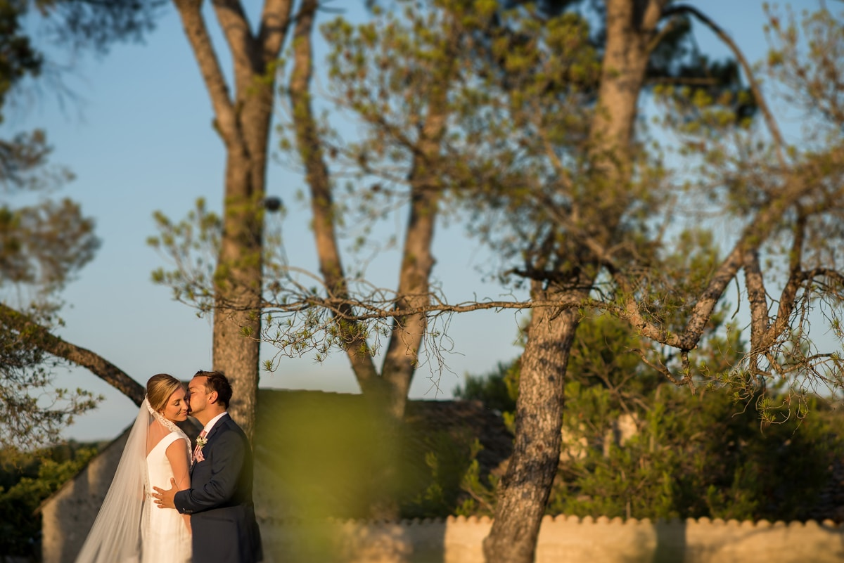 bride and groom portraits in France