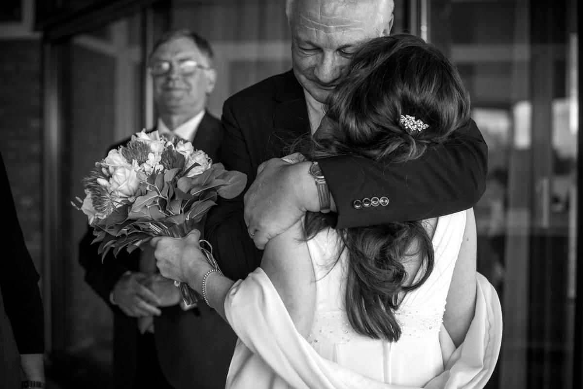 hugs at weddings