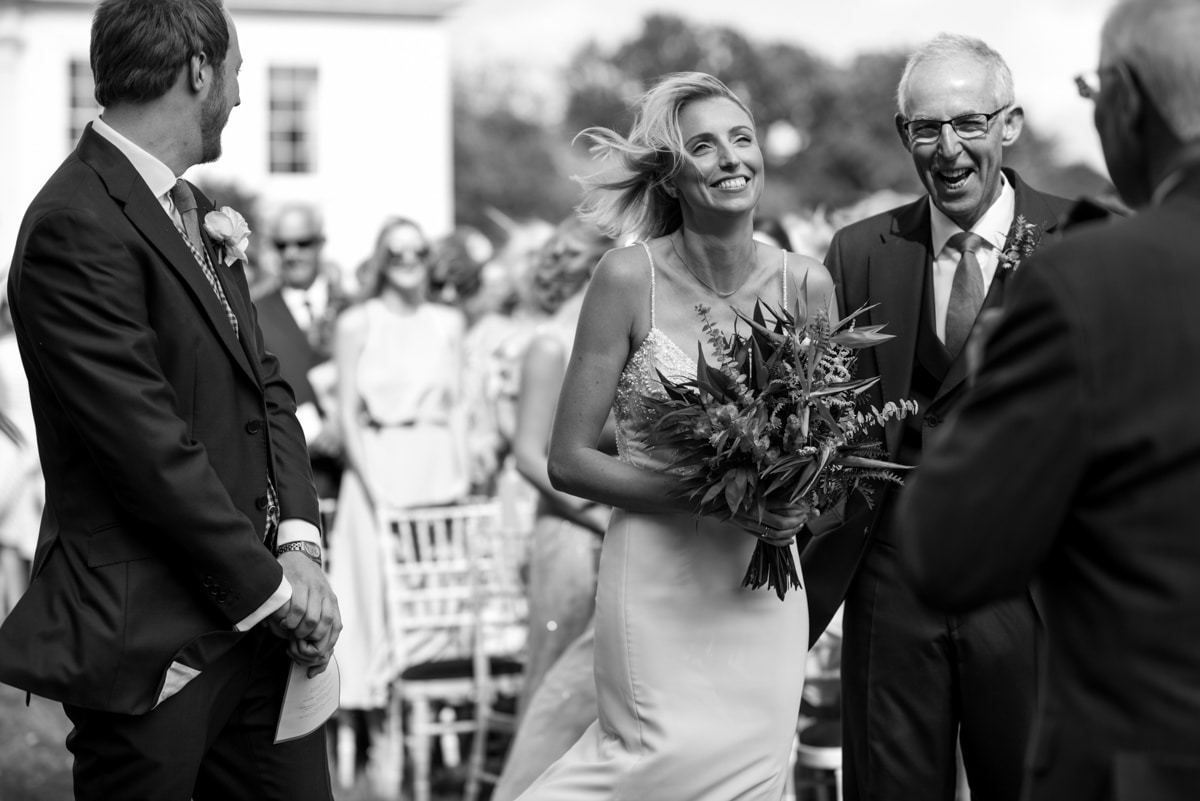 Outdoor ceremony at Worlingham Hall