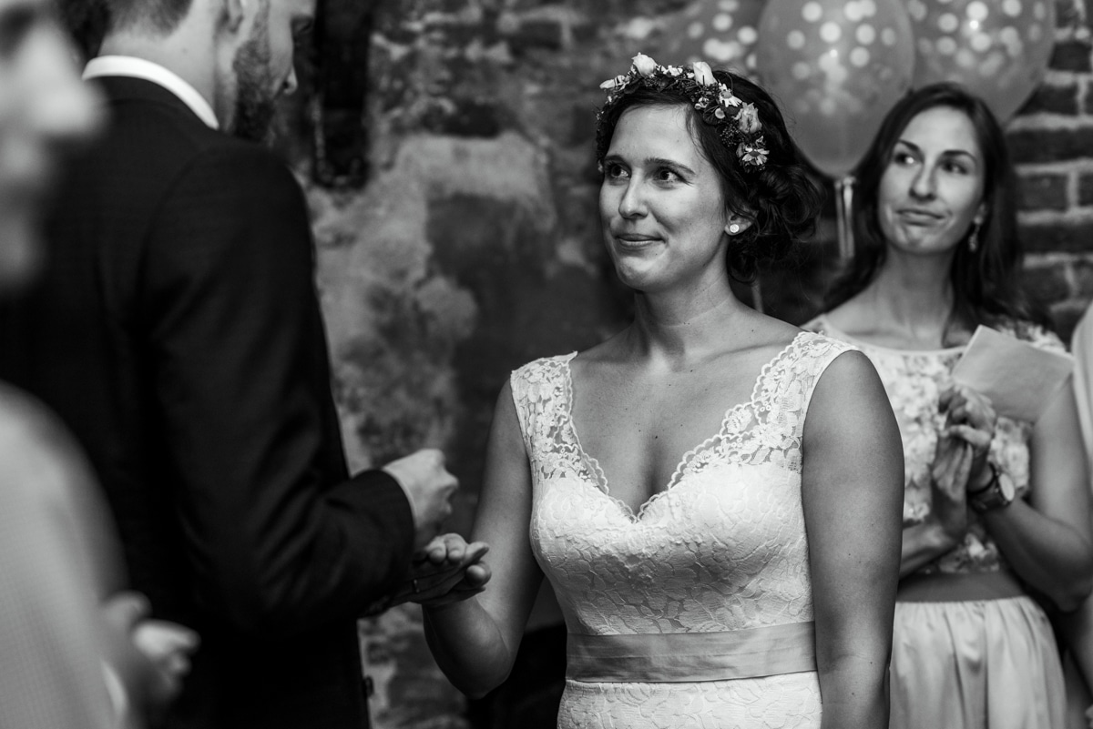 Indoor ceremony with no natural light
