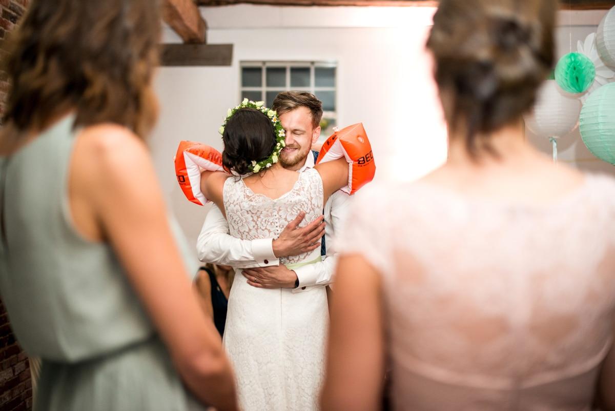 German wedding, bride and groom role play