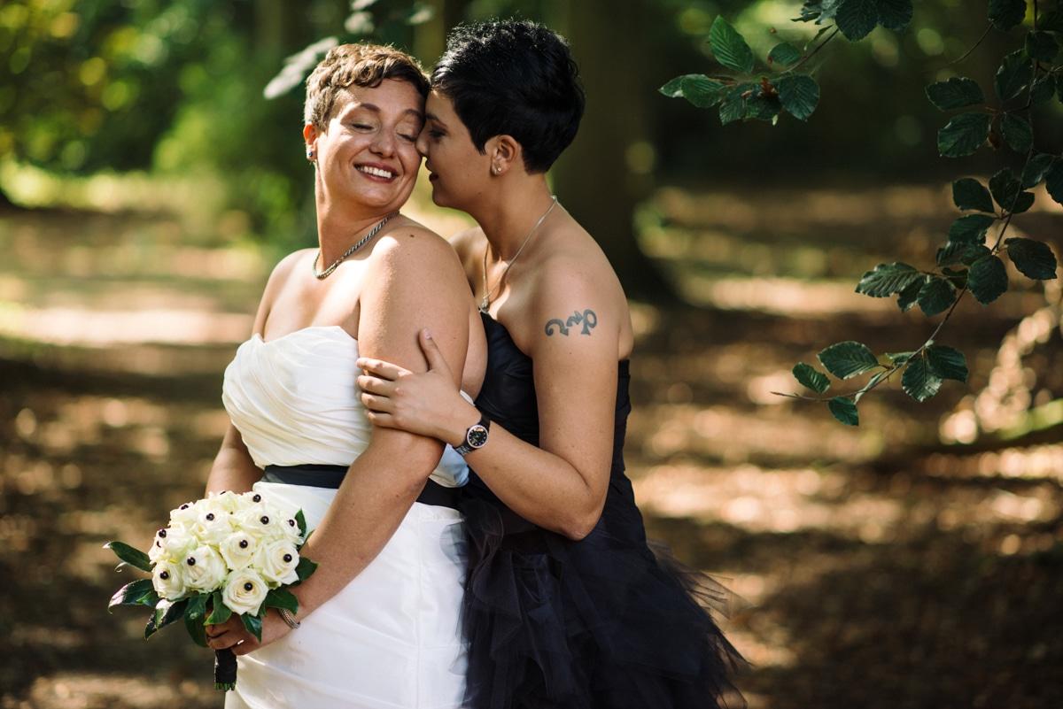 portrait from same sex wedding, Holland