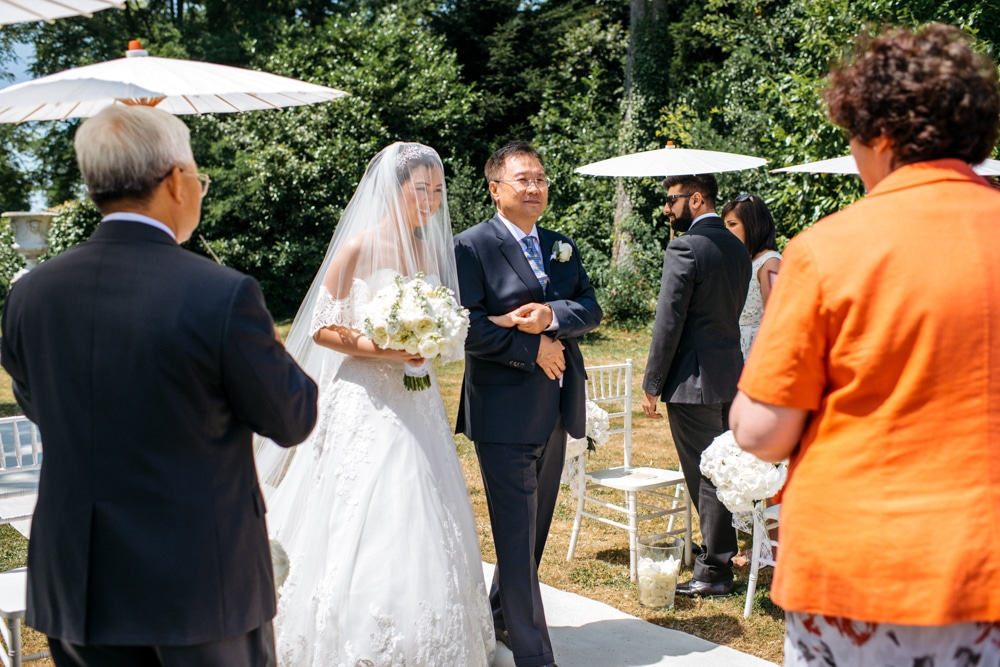 Outdoor ceremony at Chateau De Laurantie