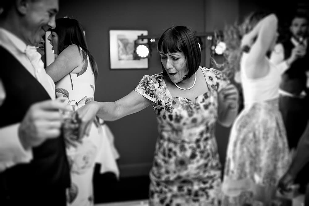 mother of bride on dance floor