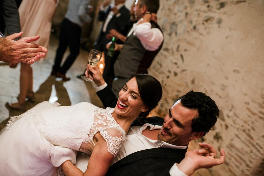 bride dancing with wedding guest