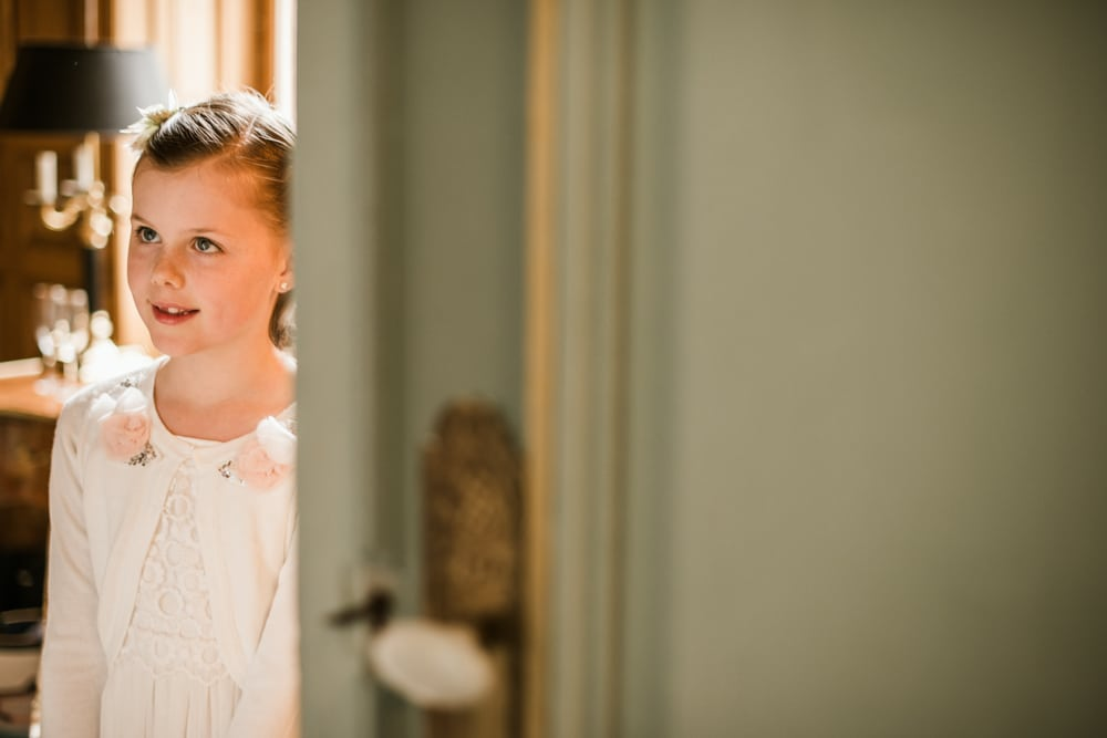 flower girl at Chateau La Durantie Wedding