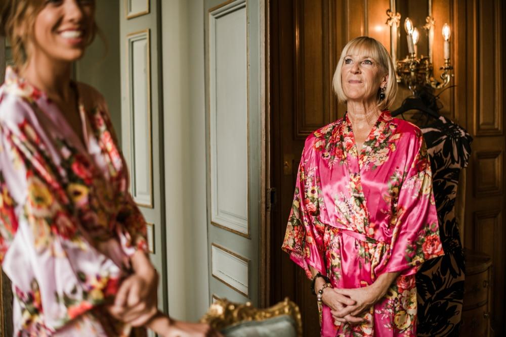 mother of bride looking nervous