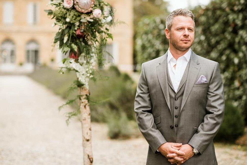 outdoor ceremony at Chateau La Durantie Wedding