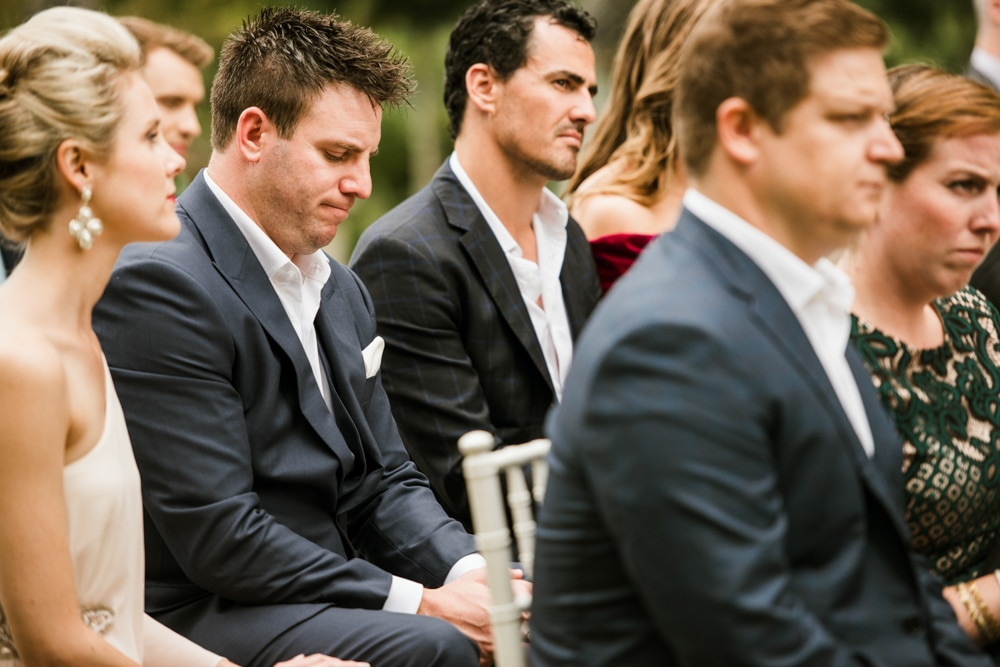 emotional guests during ceremony
