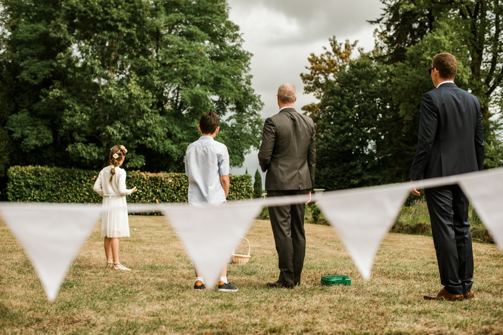 white bunting and croquet