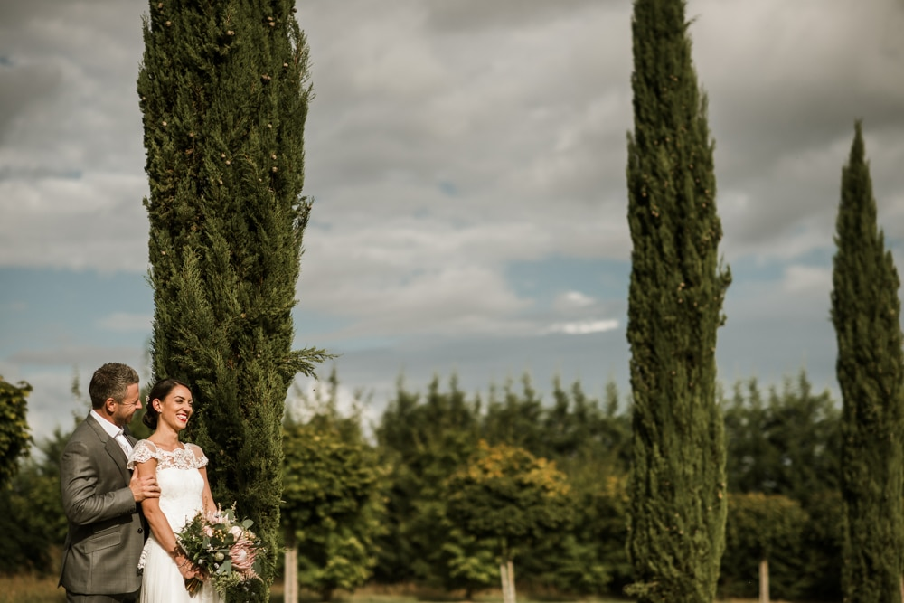 portraits of bride and groom at destination wedding