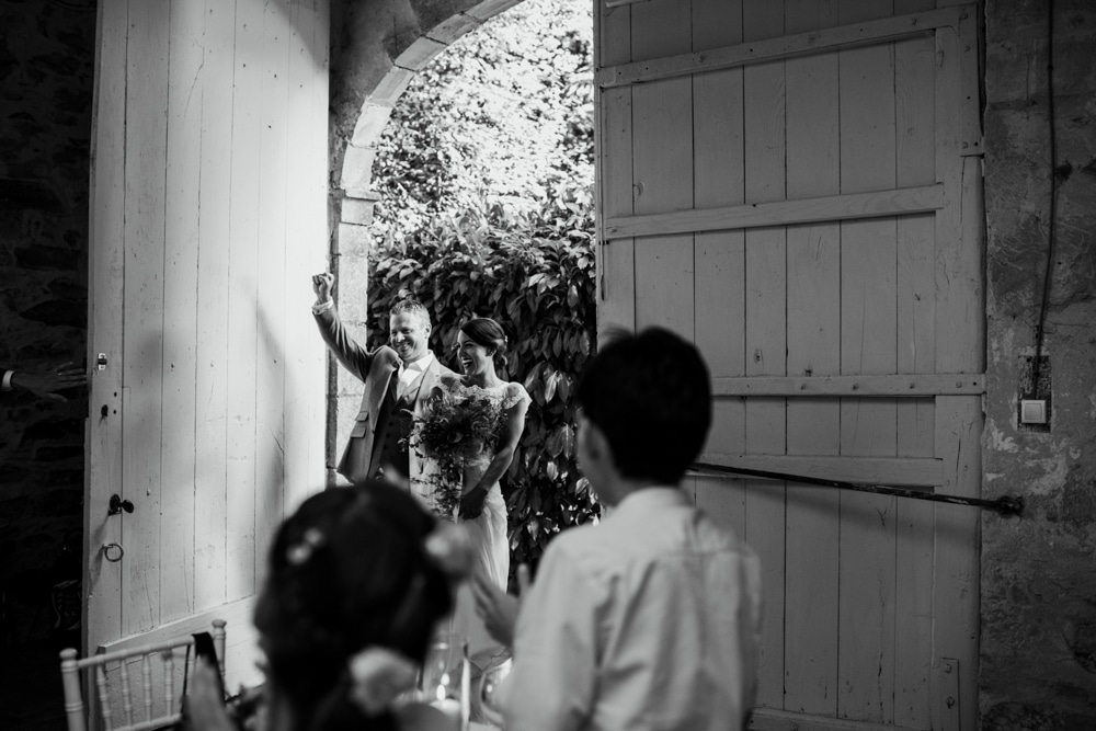 Chateau La Durantie wedding in the barn