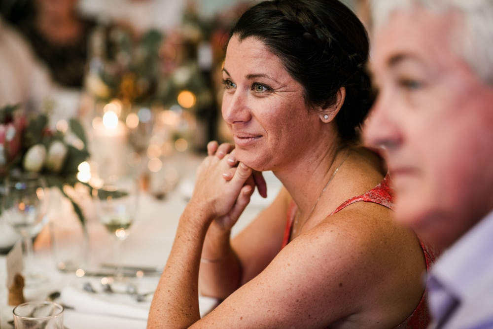 wedding guest reactions during speeches