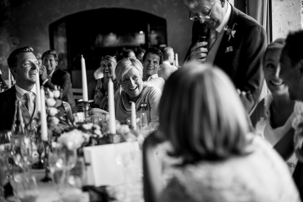 wedding speeches at Le Mas de La Rose France