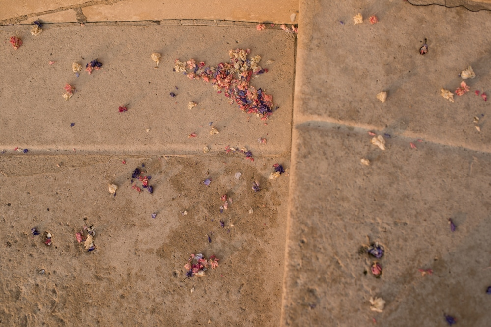 confetti on floor