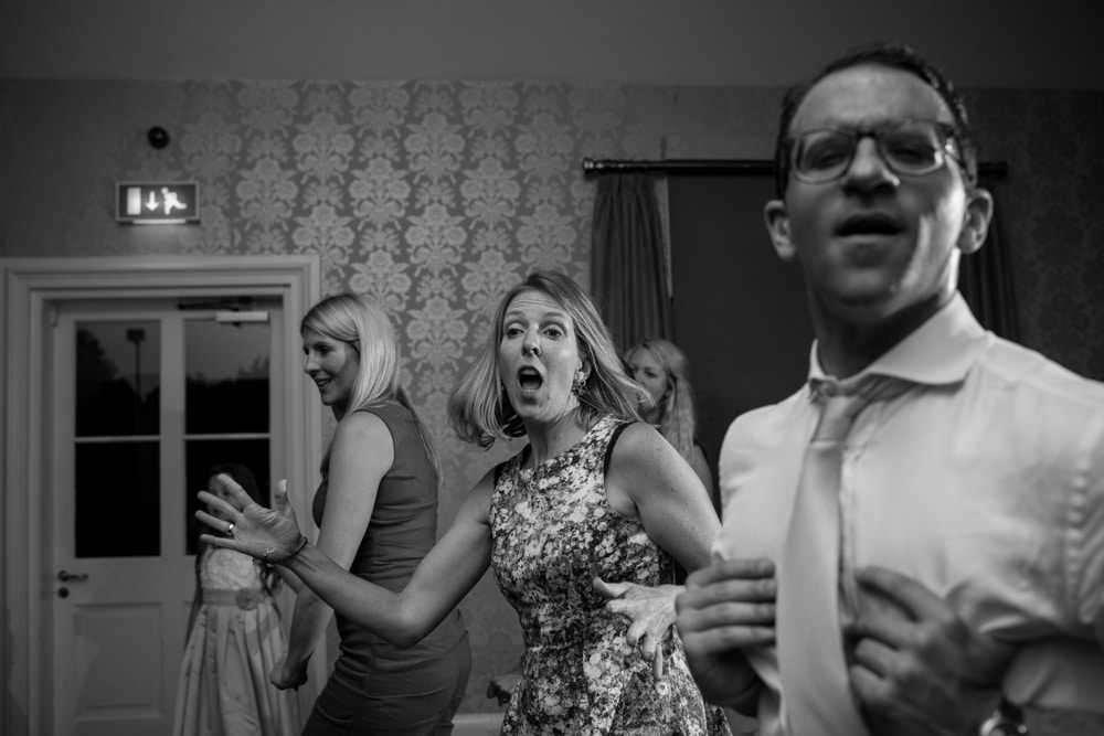 wedding guests partying at Botleys Mansion