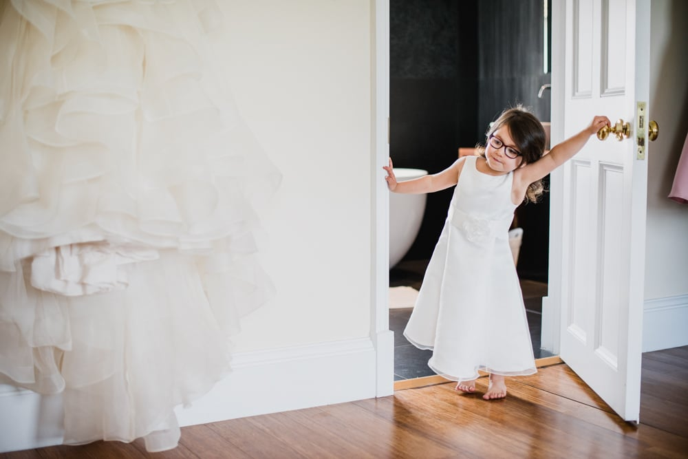 Botleys Mansion wedding flower girl