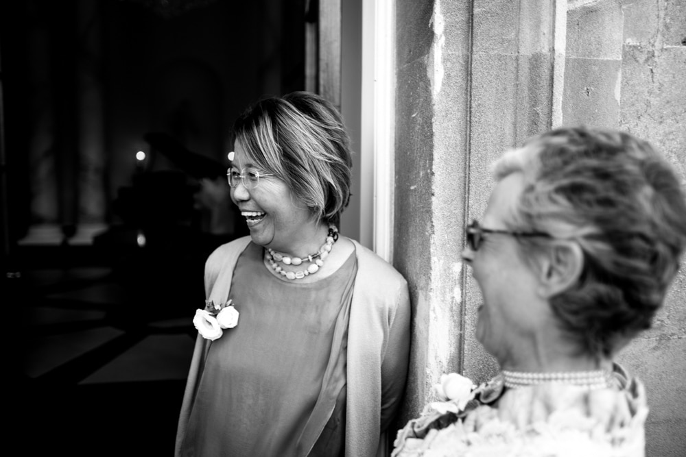 mother of bride before ceremony
