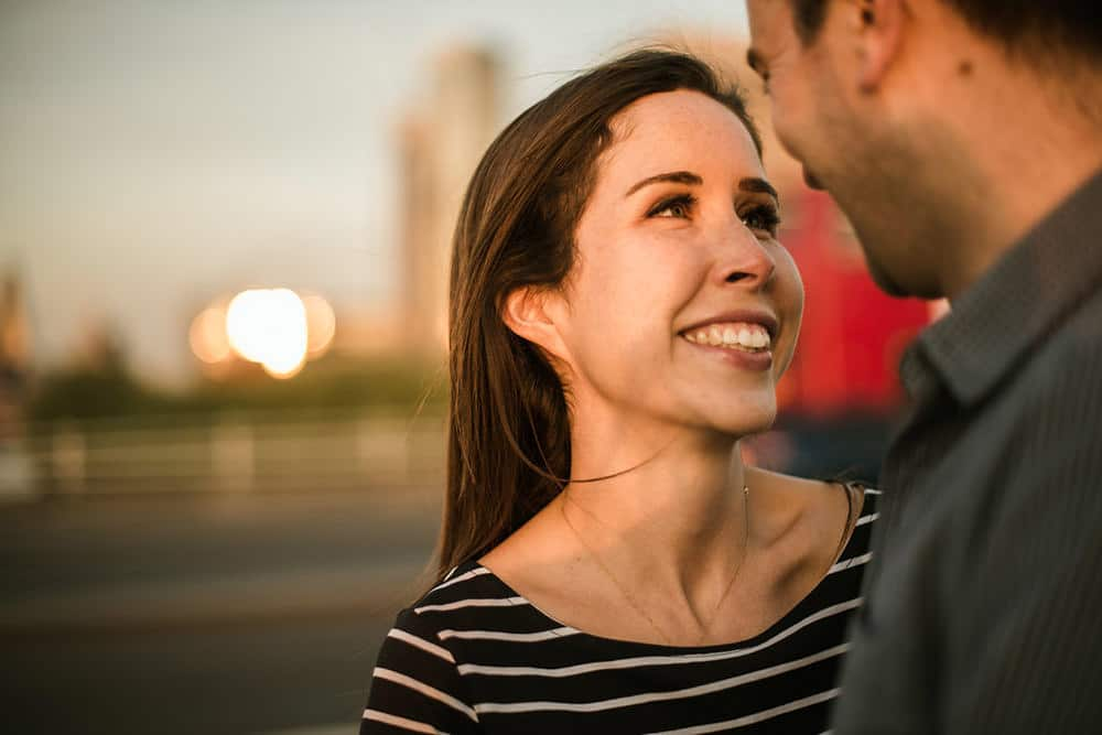 engagement shoot along Southbank