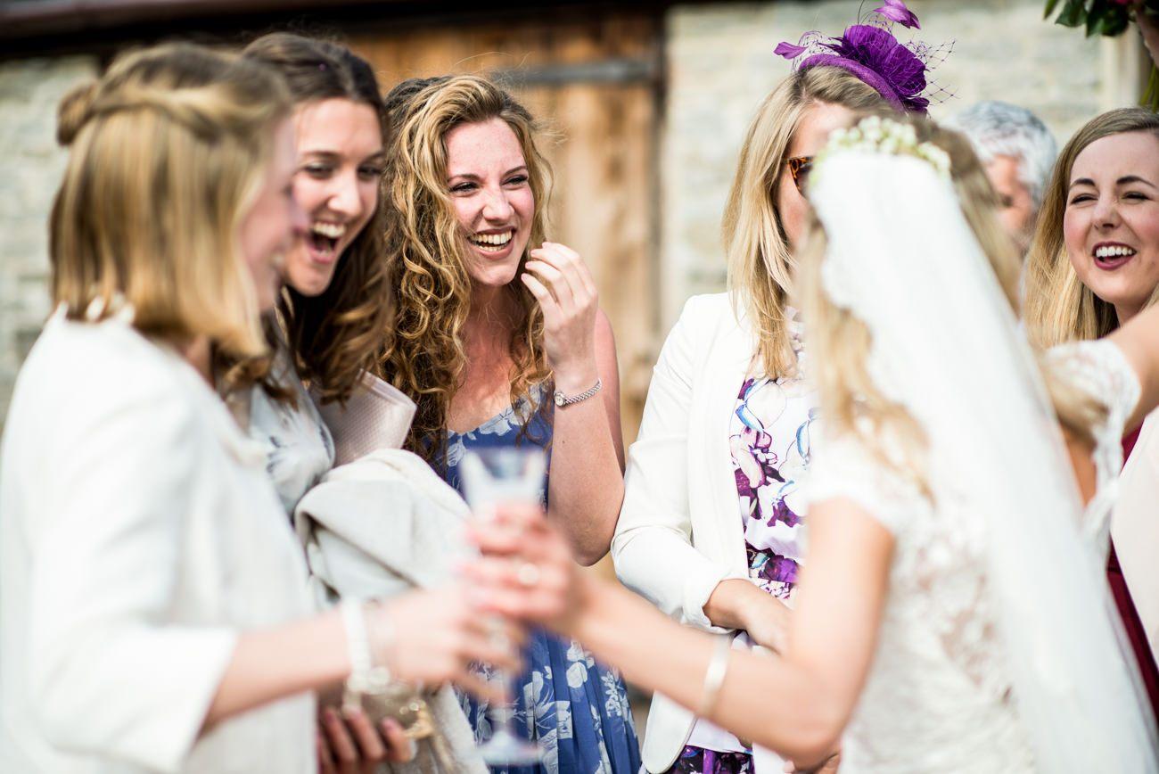 guests at Stockbridge farm wedding