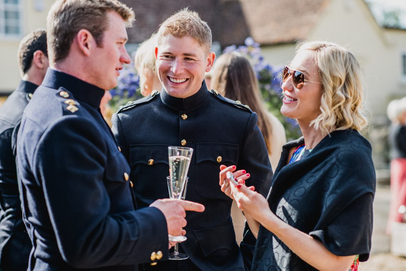 guests in uniform at wedding