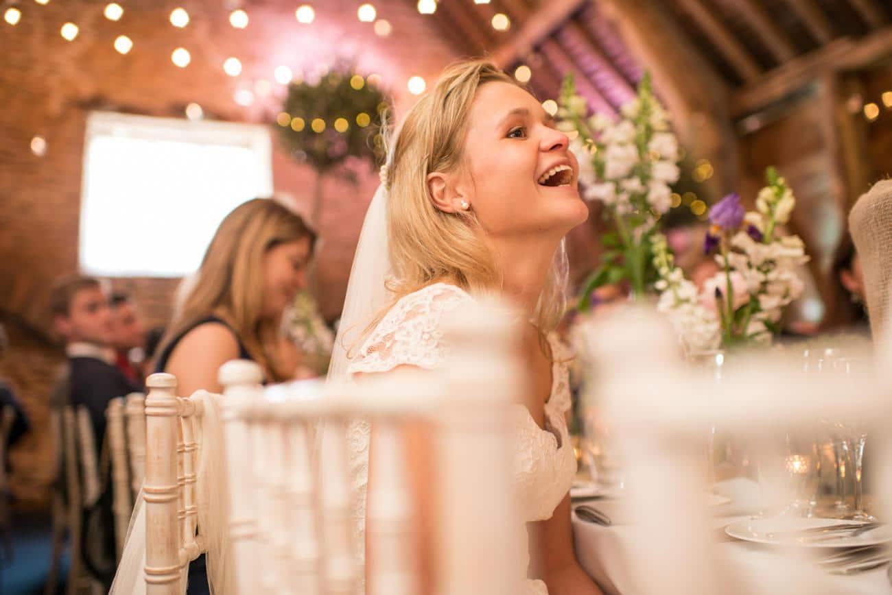bride during speeches at Stockbridge farm