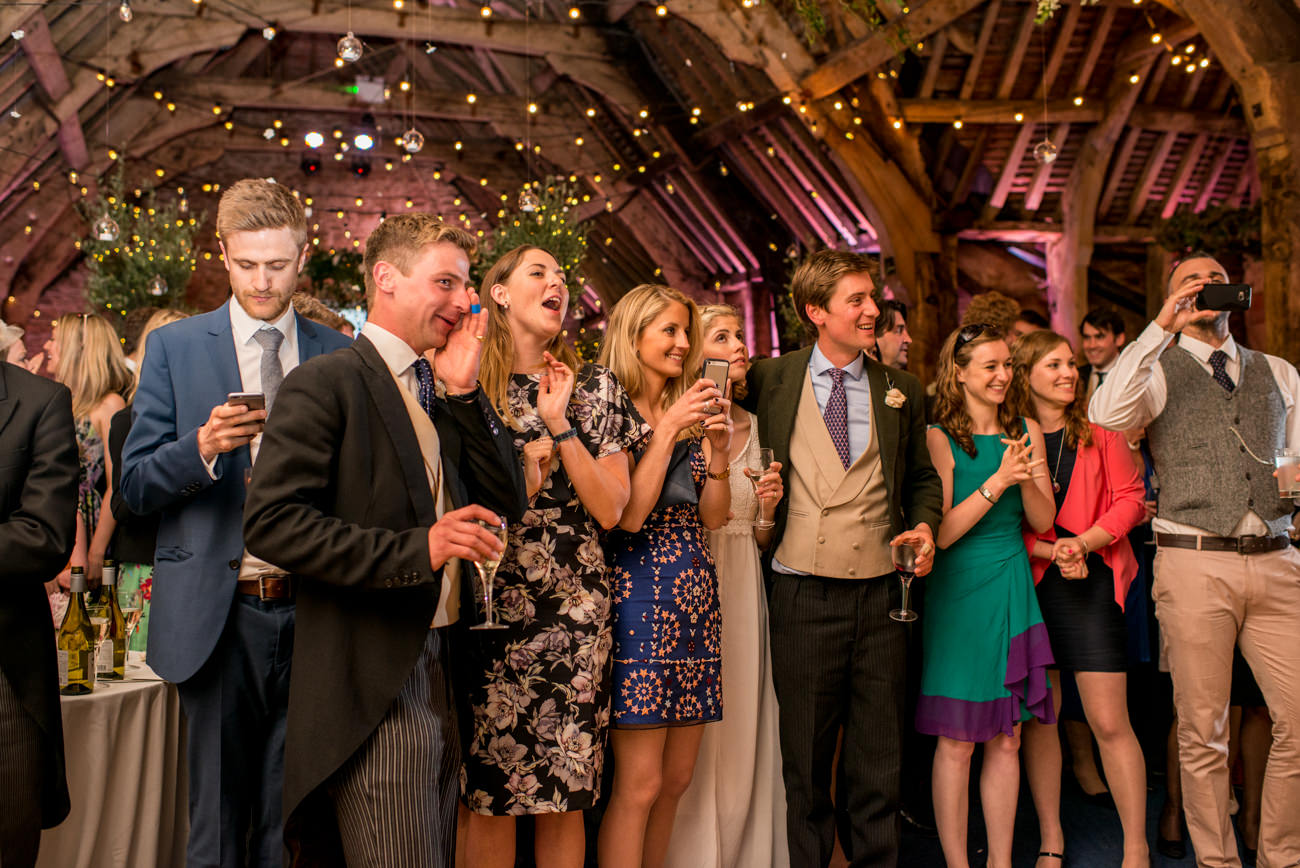 wedding party at Stockbridge farm
