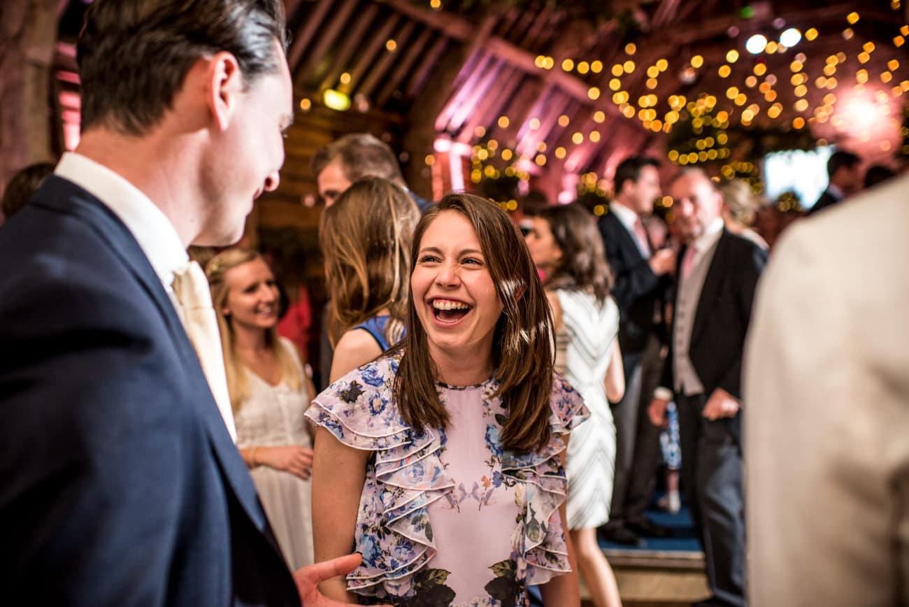 guests on dance floor at Stockbridge farm dorset