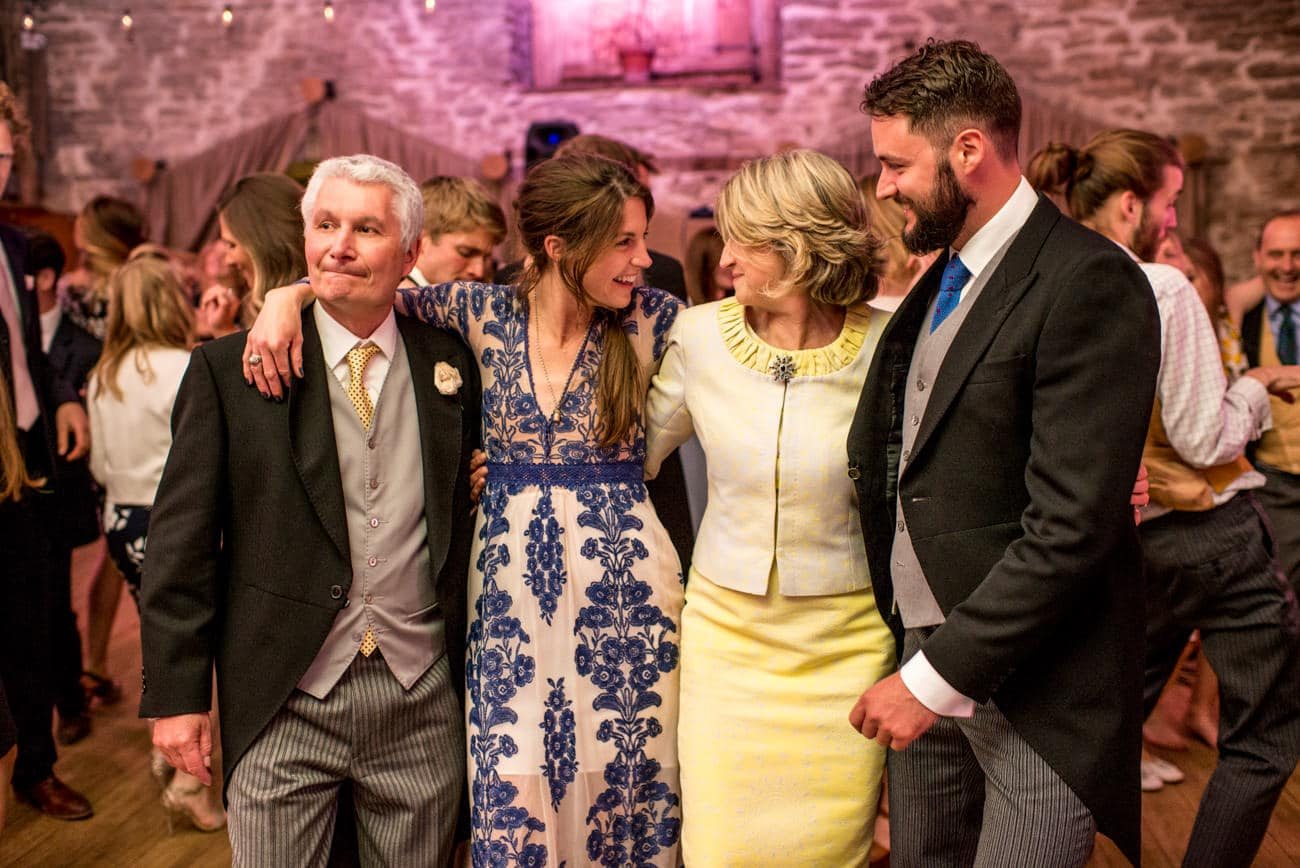 wedding guests at Stockbridge farm