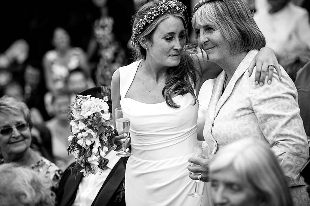 bride and mother during speeches