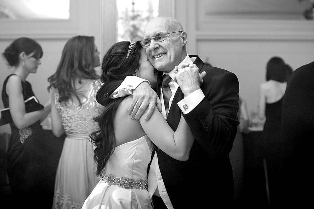 father of bride dancing with daughter