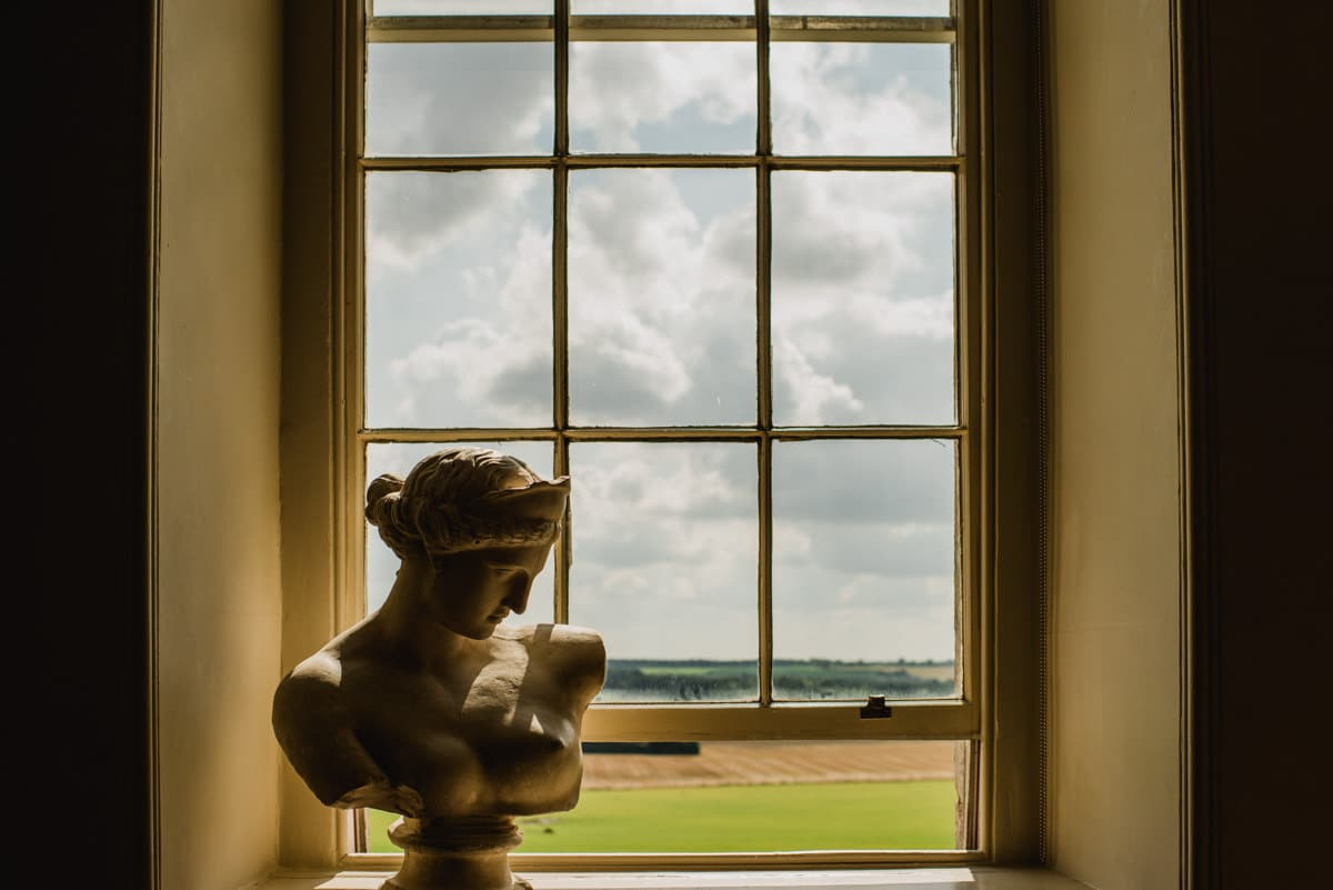 view out window at Aynhoe Park