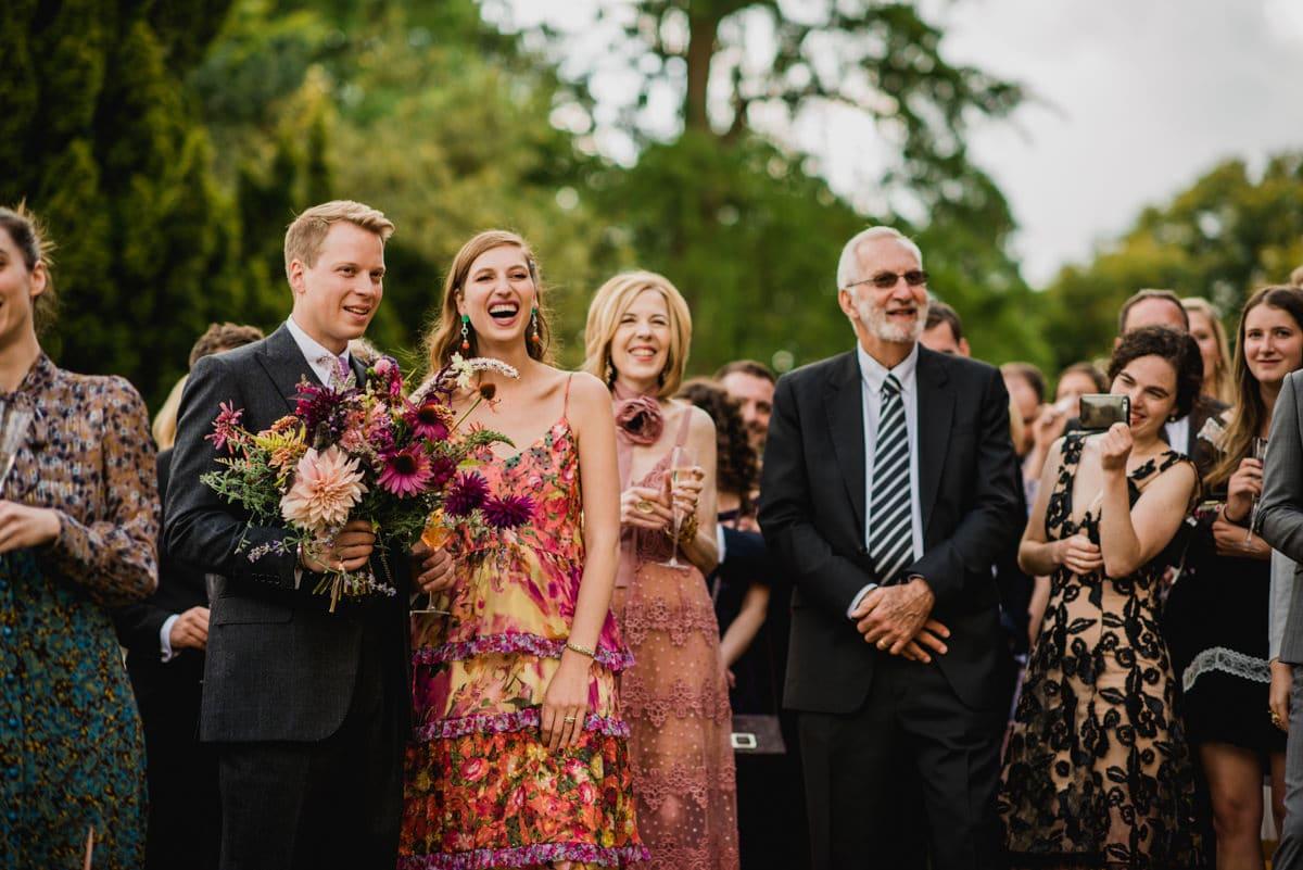 wedding speeches in the gardens of Aynhoe Park