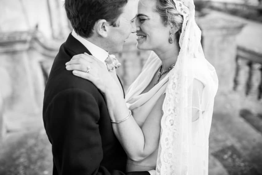 couple portraits at wedding ceremony at Bryanston School wedding