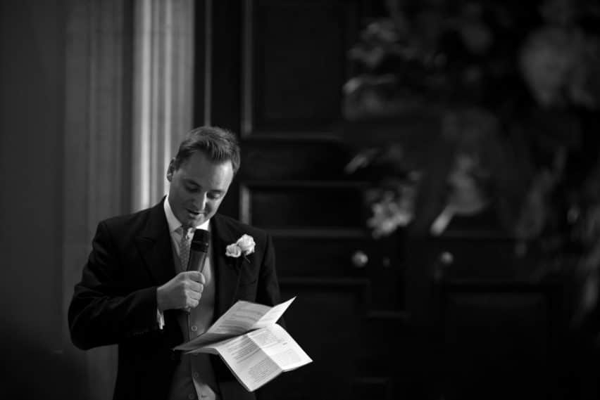 speeches at Bryanston School wedding