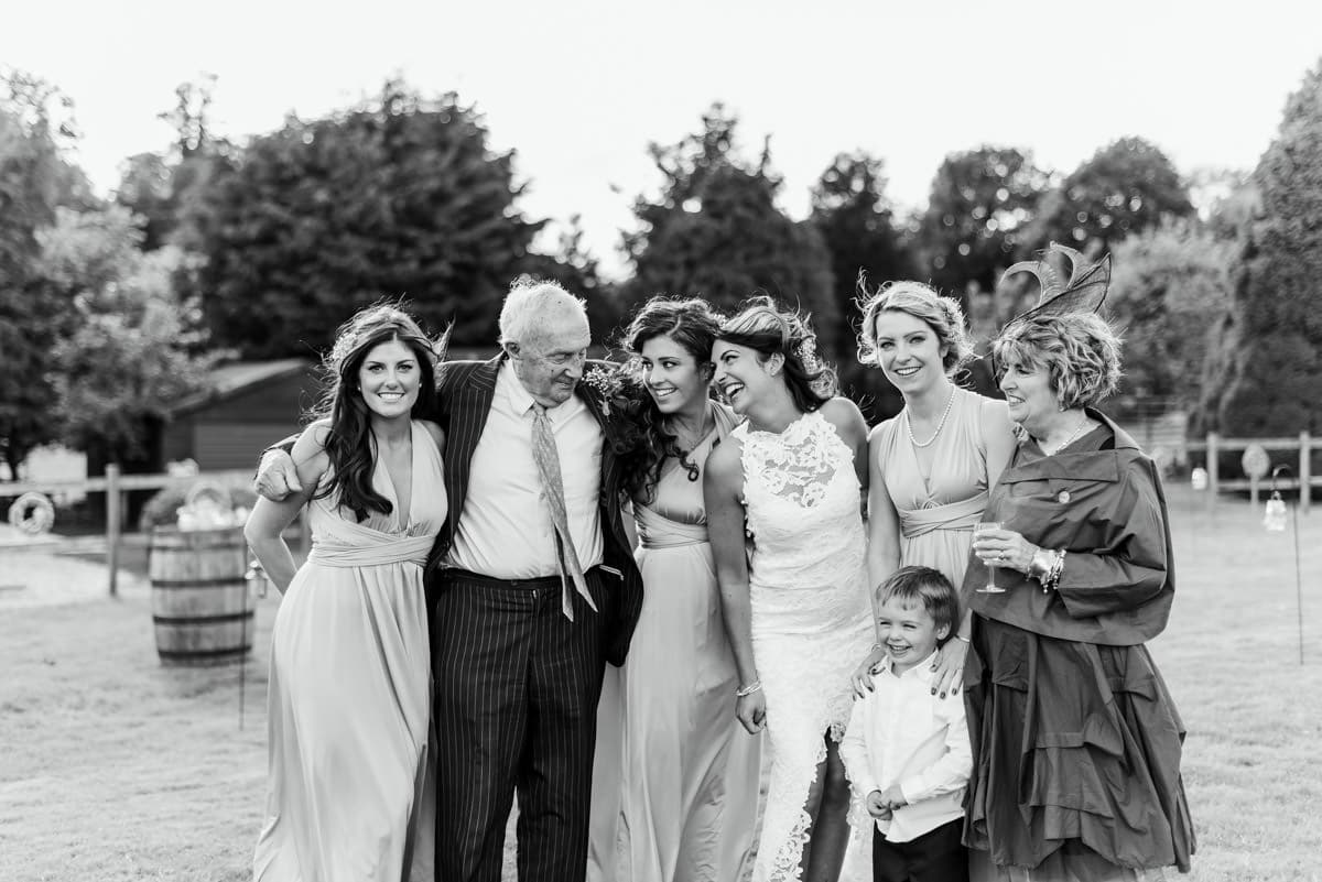 natural family portrait at wedding