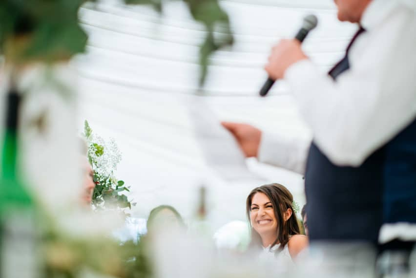 wedding speeches in Marquee