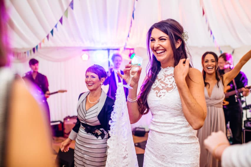 marquee wedding party