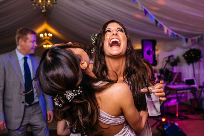 wedding celebrations on dancefloor