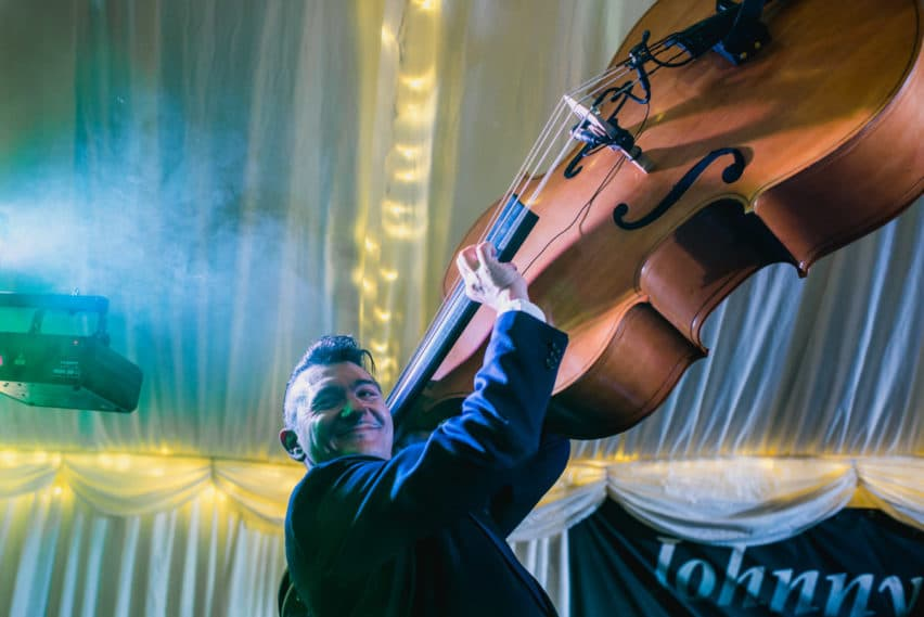 cello player during wedding party
