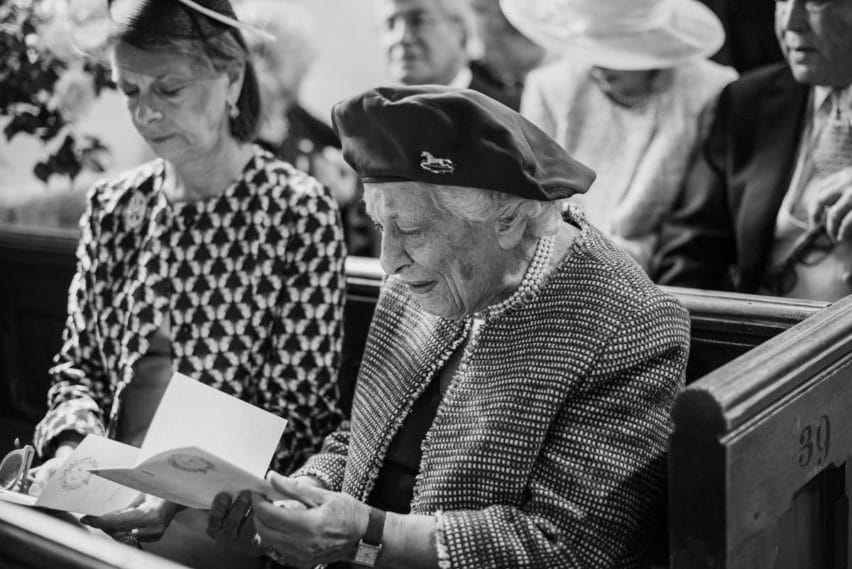 grandmother in church