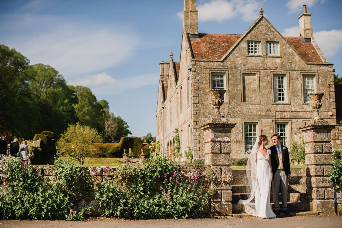 bride and groom at Hatch House