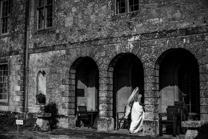bride walking into Hatch House